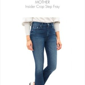 Mother jeans The Insider Step crop Frayed Sz26
